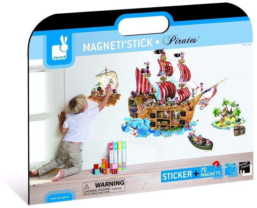 Janod Пираты (J02849) - магнитные стикеры (Multicolor)Развивающие игрушки<br>Магнитные стикеры<br>