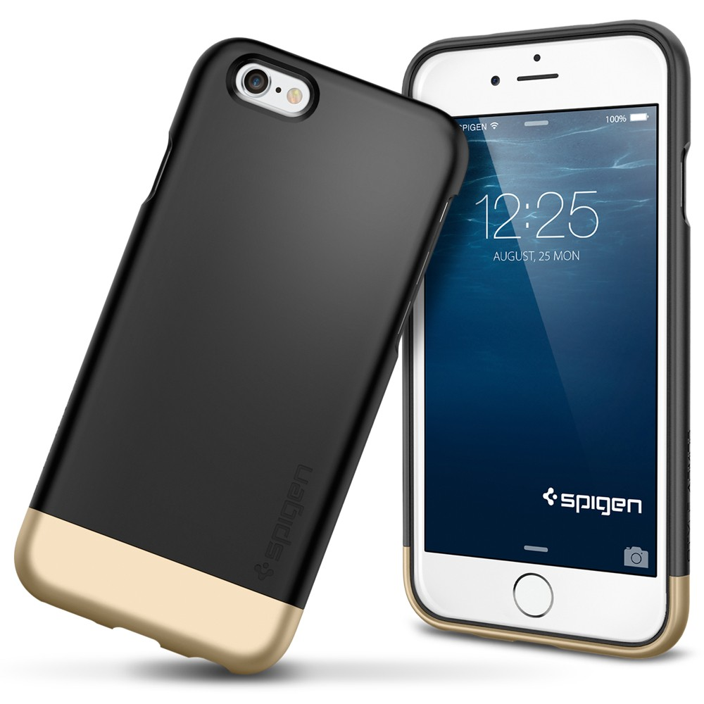 "Spigen Style Armor Series (SGP11047) - чехол для iPhone 6 4.7"" (Smooth Black)"