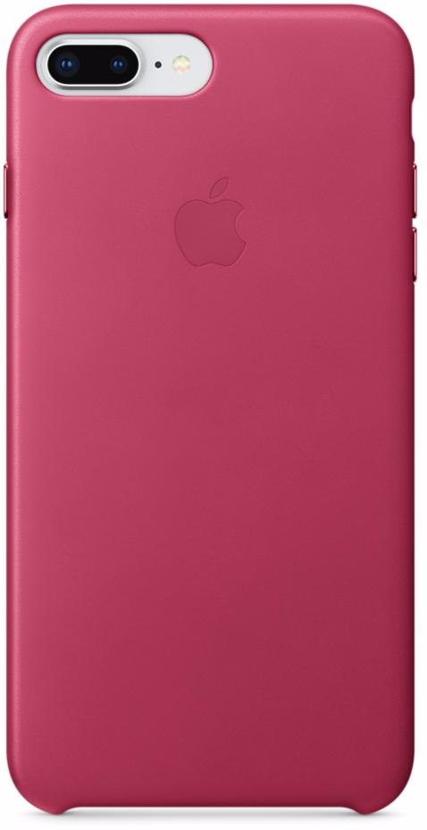 Чехол-накладка Apple Leather Case (MQHT2ZM/A) для iPhone 7/8 Plus (Pink Fuchsia)