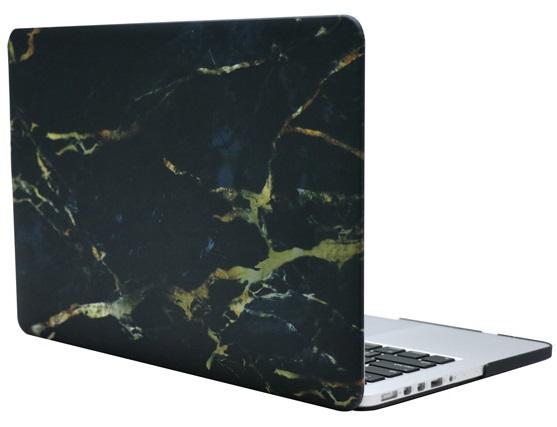 Чехол-накладка пластиковая i-Blason для Macbook Pro Retina 15 (Black/Gold Marble)