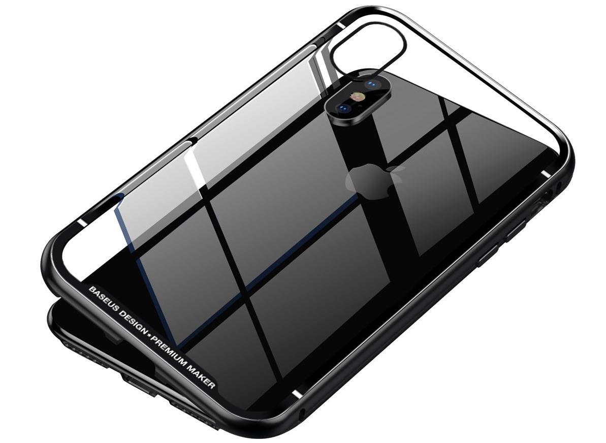 Чехол Baseus Magnetite Hardware Case (WIAPIPHX-CS01) для Apple iPhone X (Black)