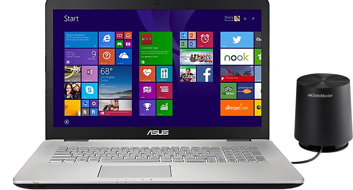 "Ноутбук Asus N751JK-T4187H 17.3"", Core i7 4710HQ 2500 Mhz, 16Gb, 1Tb HDD, 128Gb SSD (90NB06K2-M02000)"