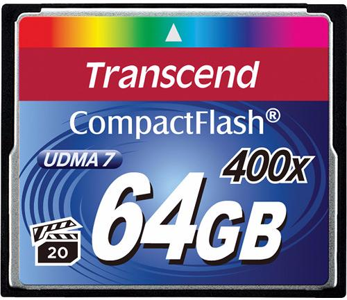 Transcend Compact Flash Premim 400x 64Gb (TS64GCF400) - карта памяти (Blue)