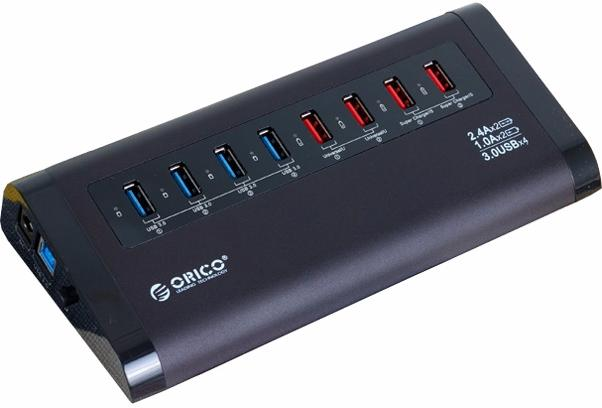 Orico UH4C4 - USB-концентратор (Black) UH4C4-BK