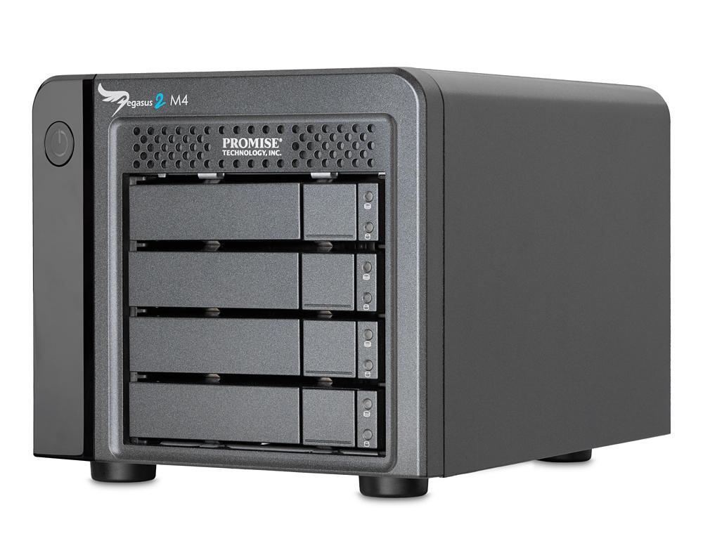 Promise Pegasus2 M4 4TB incl Thunderbolt Cable (F40PR4M01000000) - сетевое хранилище (Black)