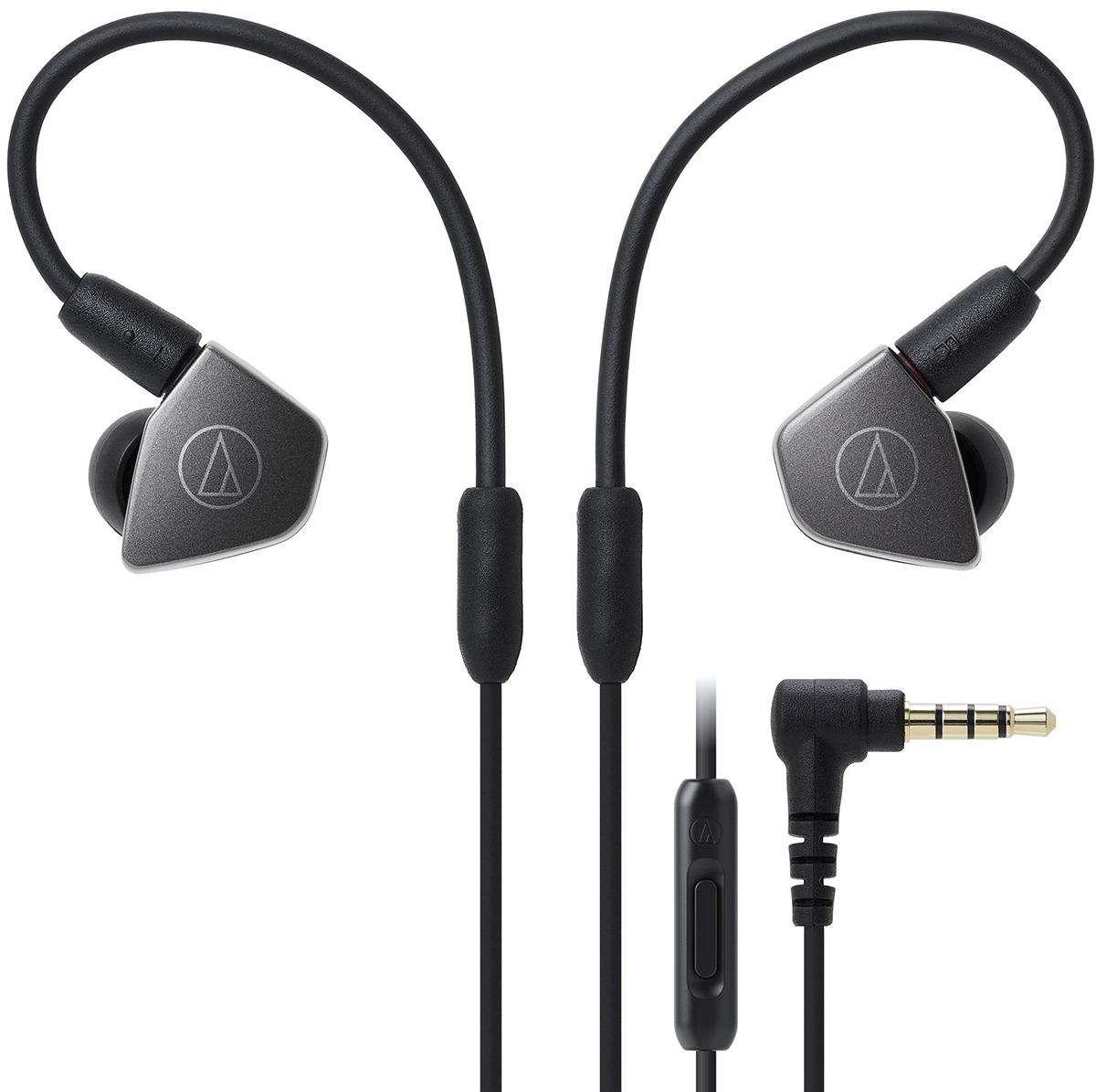 Audio-Technica ATH-LS70iS (15119539) - внутриканальные наушники (Black) внутриканальные наушники audio technica ath sport1is pink