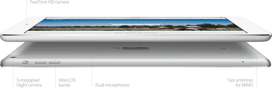 Apple iPad Air – габариты планшета