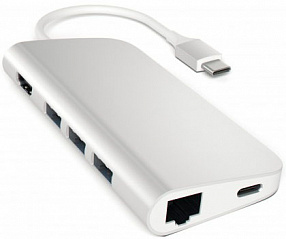 Купить Мультипереходник Satechi Aluminum Type-C Multi-Port Adapter (Silver)