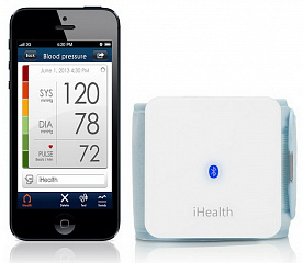 Купить iHealth Wireless Blood Pressure Wrist Monitor BP7 - тонометр на запястье для iPhone/iPod/iPad