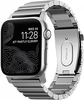 Ремешок Nomad Titanium для Apple Watch Series 2/3/4 42/44 mm (Silver)