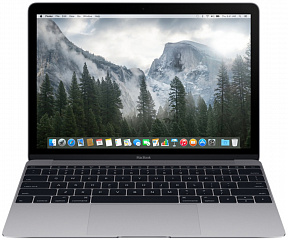 "Купить Ноутбук Apple MacBook 12"" Retina, Intel Core M3 1.1GHz, 8Gb, 256Gb SSD MLH72RU/A (Space Gray)"