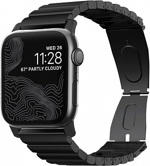 Ремешок Nomad Steel Band (NM1A4HB000) для Apple Watch Series SE/6/2/3/4 42/44 mm (Black)