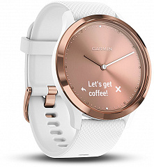 Купить Умные часы Garmin Vivomove HR Sport S/M 010-01850-22 (Rose Gold/White)