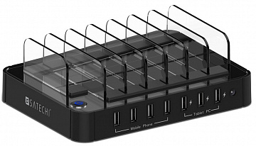 Купить Satechi 7-Port USB Charging Station (B00TT9O0SG) - док-станция (Black)