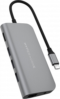 USB-концентратор HyperDrive Power 9-in-1 USB-C HD30F (Grey)