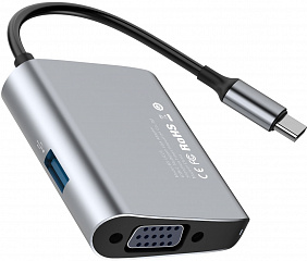 Купить USB-концентратор Baseus Enjoyment series USB-C to VGA/USB 3.0 CATSX-E0G (Space Gray)