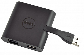 Купить Адаптер Dell DA100 USB 3.0 to HDMI/VGA/Ethernet/USB 2.0 (Black)